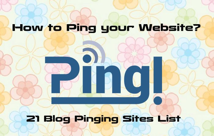 How to Ping your Website with Blog Pinging Sites