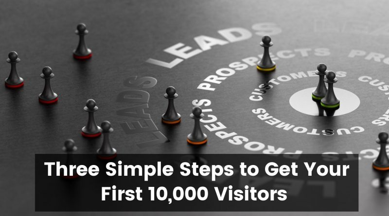 Three Simple Steps to Get Your First 10,000 Visitors